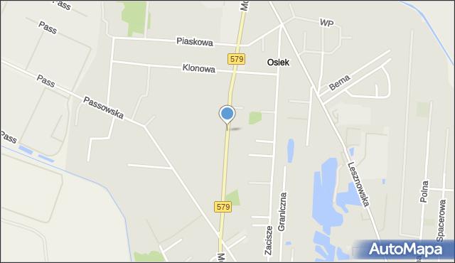 Błonie powiat warszawski zachodni, Modlińska, mapa Błonie powiat warszawski zachodni