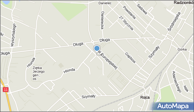 Bytom, Modrzewiowa, mapa Bytomia