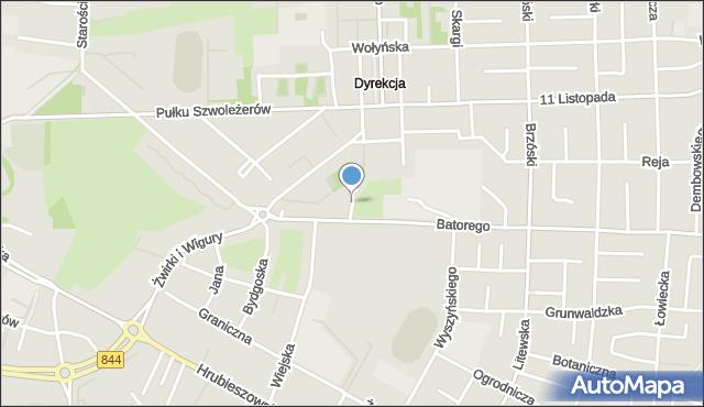 Chełm, Moniuszki Stanisława, mapa Chełma