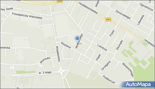 Chełm, Mościckiego Ignacego, mapa Chełma