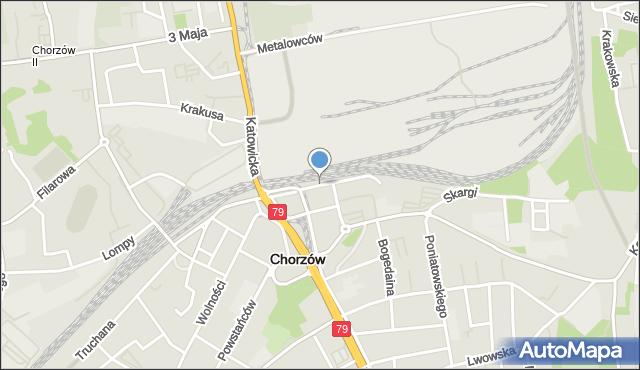 Chorzów, Moniuszki Stanisława, mapa Chorzów