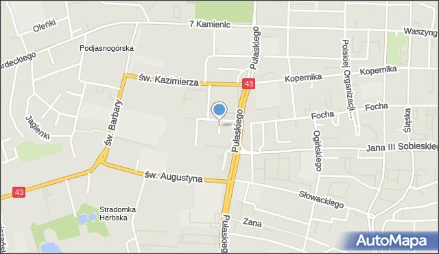 Częstochowa, Mozarta Wolfganga Amadeusza, mapa Częstochowy