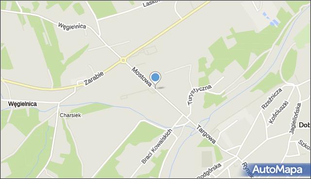 Dobczyce, Mostowa, mapa Dobczyce