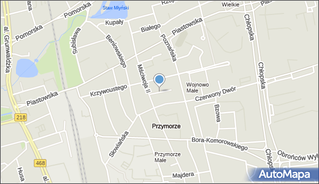 Gdańsk, Morawska, mapa Gdańska