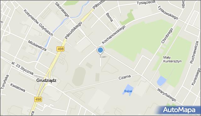 Grudziądz, Modrzewskiego Andrzeja Frycza, mapa Grudziądza
