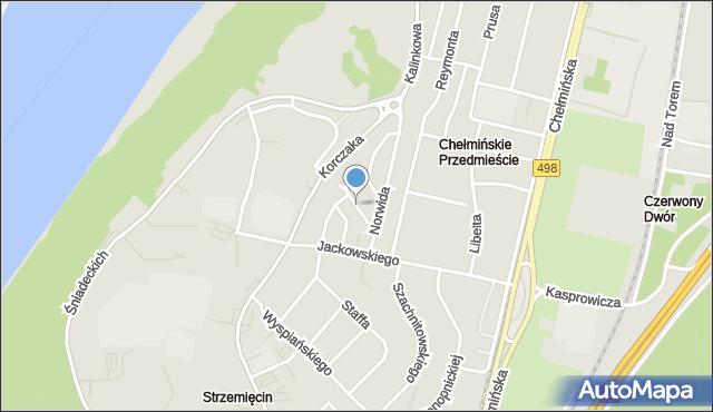 Grudziądz, Morcinka Gustawa, mapa Grudziądza