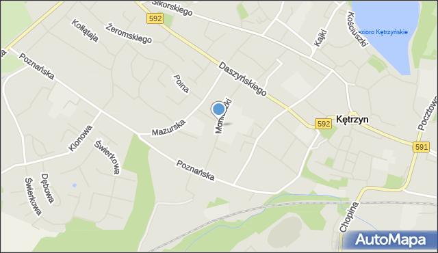 Kętrzyn, Moniuszki Stanisława, mapa Kętrzyn