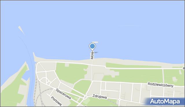Kołobrzeg, Molo, mapa Kołobrzegu