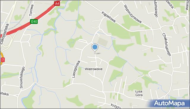 Kraków, Moszyńskiego Kazimierza, mapa Krakowa