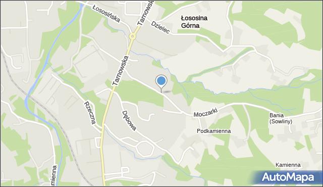 Limanowa, Moczarki, mapa Limanowa