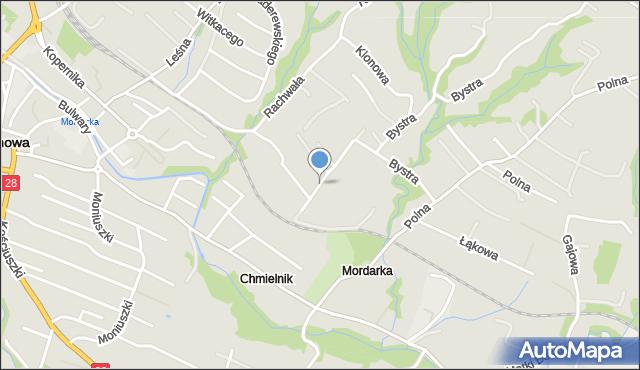 Limanowa, Mordarska, mapa Limanowa