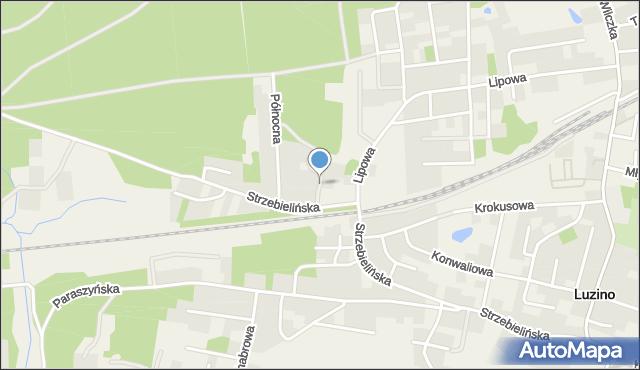 Luzino, Modrzewiowa, mapa Luzino