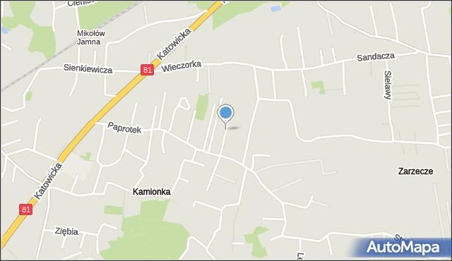 Mikołów, Morcinka Gustawa, mapa Mikołów