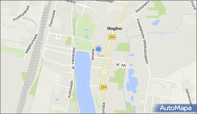 Mogilno, Moniuszki Stanisława, mapa Mogilno