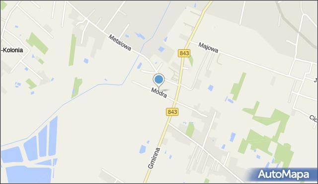 Pokrówka, Modra, mapa Pokrówka