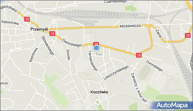 Przemyśl, Moniuszki Stanisława, mapa Przemyśla