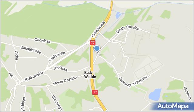 Przemyśl, Monte Cassino, mapa Przemyśla