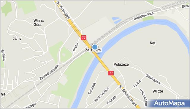 Przemyśl, Most Brama Przemyska, mapa Przemyśla