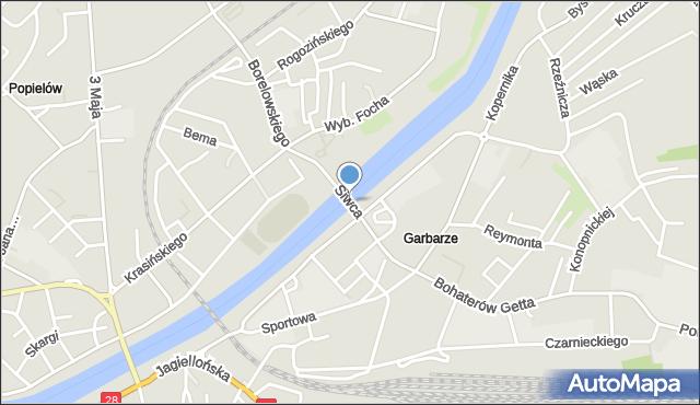 Przemyśl, Most Siwca, mapa Przemyśla