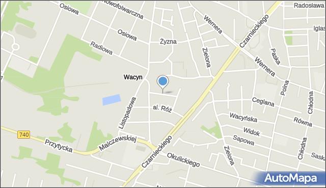 Radom, Morelowa, mapa Radomia