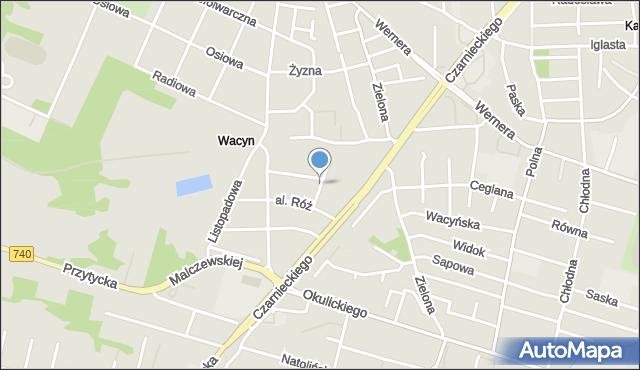 Radom, Morwowa, mapa Radomia