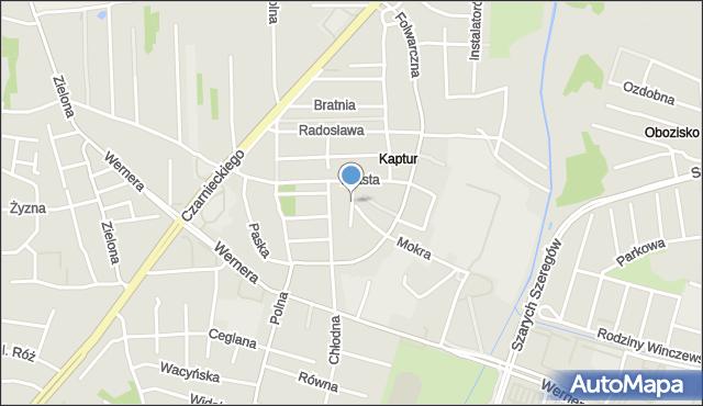 Radom, Modra, mapa Radomia