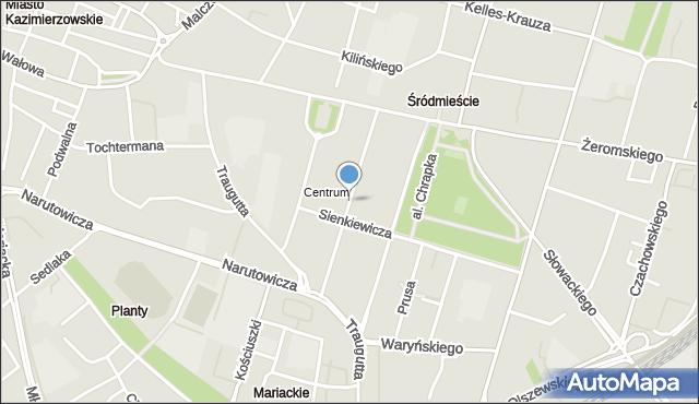 Radom, Moniuszki Stanisława, mapa Radomia
