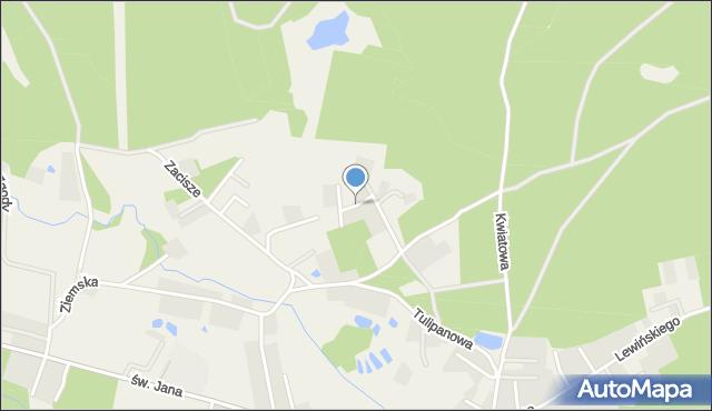 Robakowo gmina Luzino, Modrzewiowa, mapa Robakowo gmina Luzino