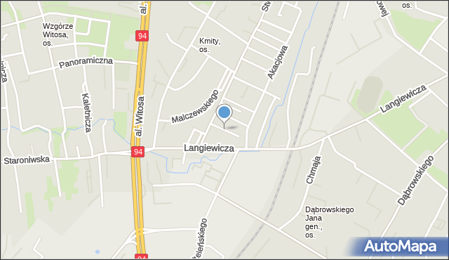 Rzeszów, Modrzewiowa, mapa Rzeszów