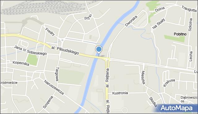 Rzeszów, Most Lwowski, mapa Rzeszów