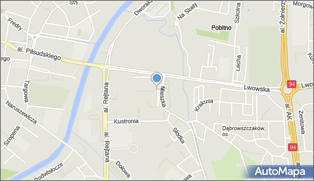 Rzeszów, Monte Cassino, mapa Rzeszów