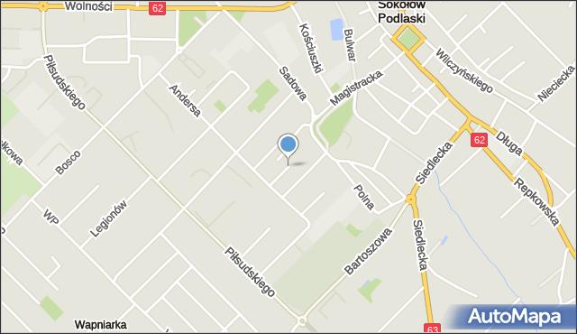 Sokołów Podlaski, Monte Cassino, mapa Sokołów Podlaski