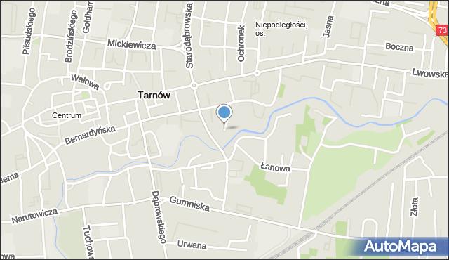 Tarnów, Mostowa, mapa Tarnów