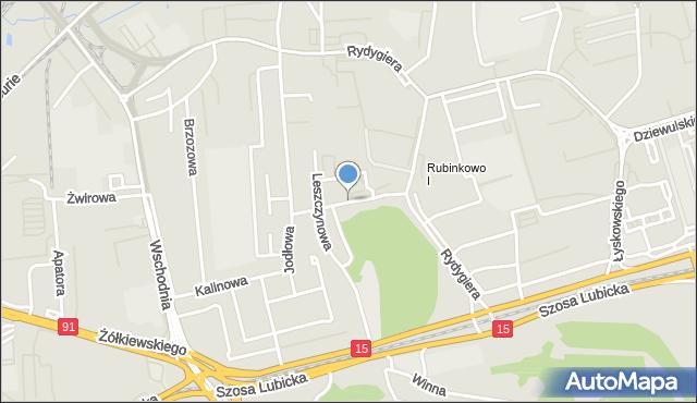 Toruń, Mocarskiego Zygmunta, mapa Torunia