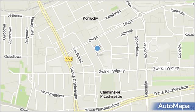 Toruń, Moczyńskiego Zygmunta, mapa Torunia