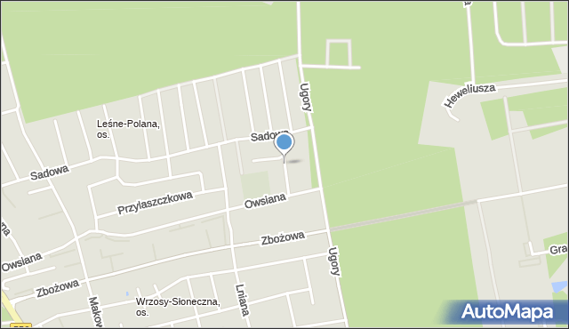 Toruń, Modrakowa, mapa Torunia
