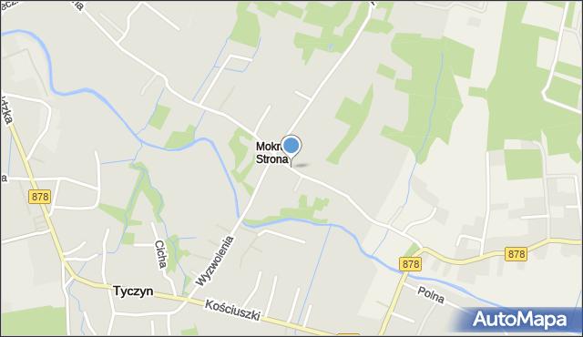 Tyczyn powiat rzeszowski, Mokra Strona, mapa Tyczyn powiat rzeszowski