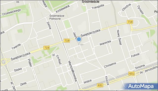 Warszawa, Moniuszki Stanisława, mapa Warszawy