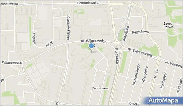 Warszawa, Modra, mapa Warszawy