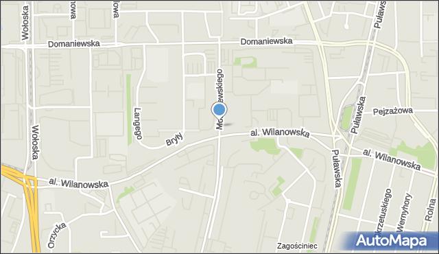 Warszawa, Modzelewskiego Zygmunta, mapa Warszawy