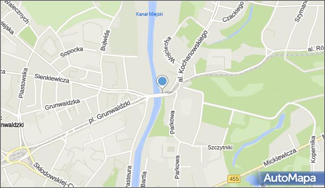 Wrocław, Most Szczytnicki, mapa Wrocławia