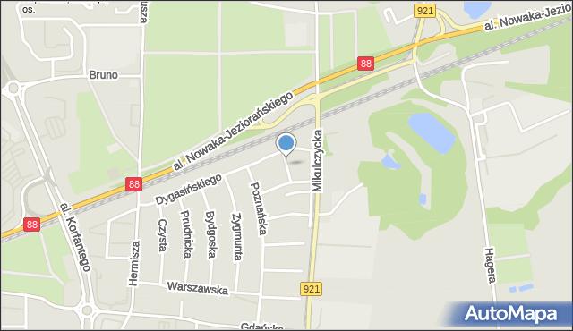 Zabrze, Morwowa, mapa Zabrza