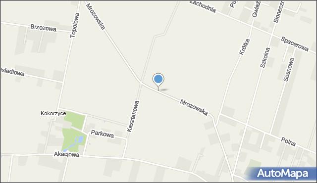 Krępice gmina Miękinia, Mrozowska, mapa Krępice gmina Miękinia