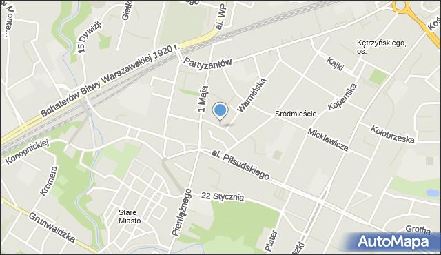Olsztyn, Mrongowiusza Krzysztofa Celestyna, mapa Olsztyna