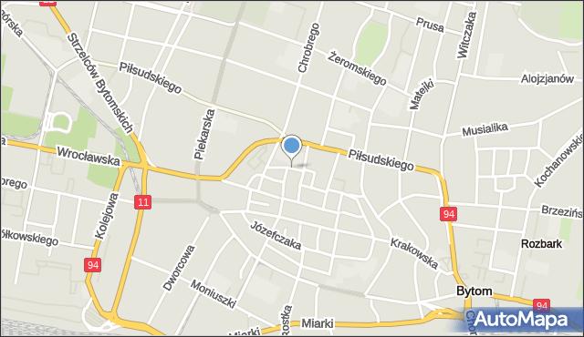 Bytom, Murarska, mapa Bytomia