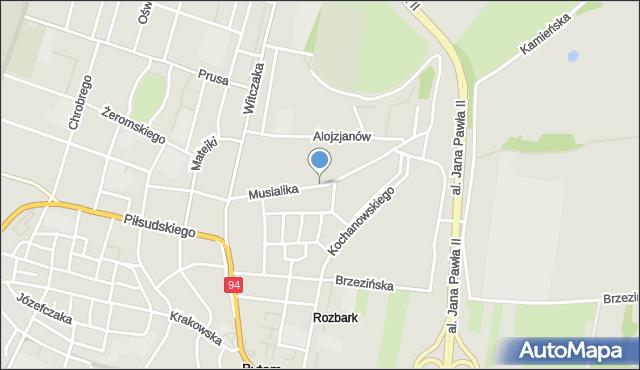 Bytom, Musialika Feliksa, mapa Bytomia