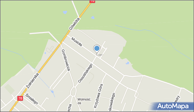 Bytom, Musioła, mapa Bytomia