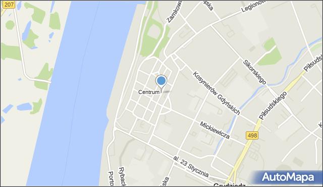 Grudziądz, Murowa, mapa Grudziądza