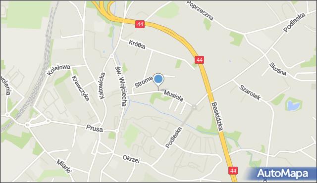 Mikołów, Musioła Ludwika, mapa Mikołów