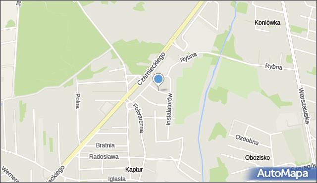 Radom, Murarska, mapa Radomia